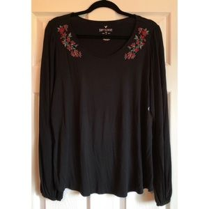 American Eagle black long sleeve top